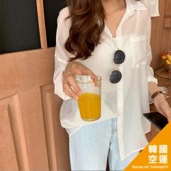 韓國空運 透肌防曬罩衫-2色-TMH