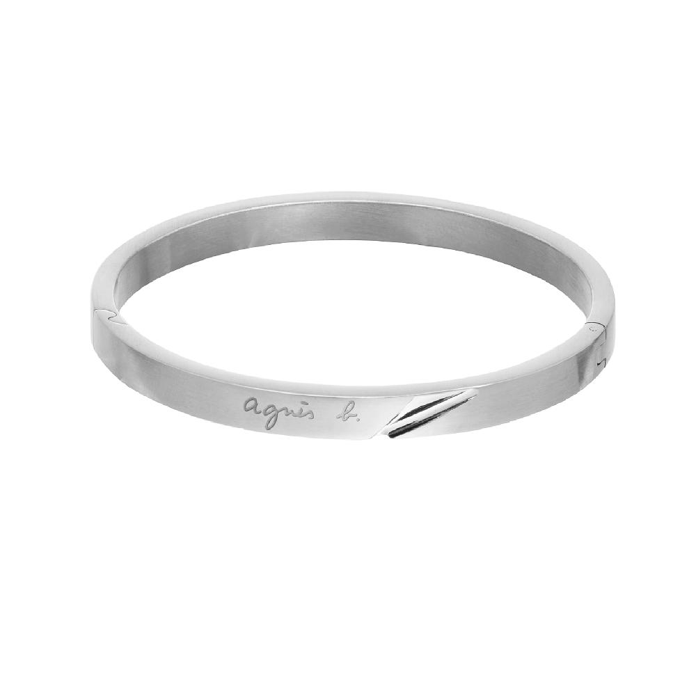 agnes b. 立體切面女性手環(銀)