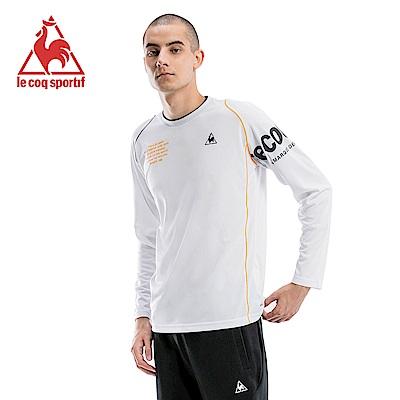 le coq sportif 法國公雞牌吸排長袖T恤 男-白