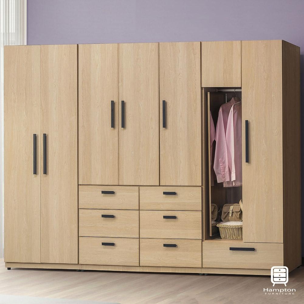 Hampton羅尼原橡木9尺衣櫥-270x57x195cm