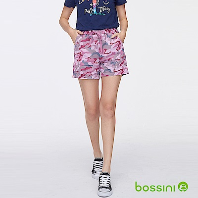 bossini女裝-印花輕便短褲05粉紫