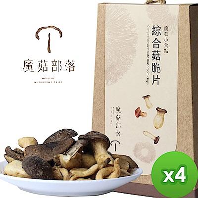 魔菇部落 魔菇小食點-綜合菇脆片(75gX4盒)