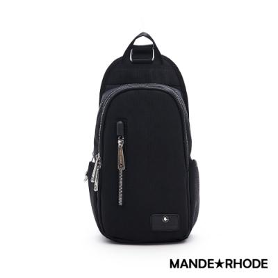 MANDE RHODE - 普徠德 - 美系潮男風格多層單肩胸包 - 格紋黑