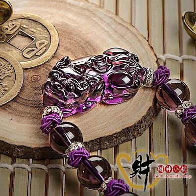 財神小舖  人緣 貔貅紫水晶手鍊 (含開光) S-8610