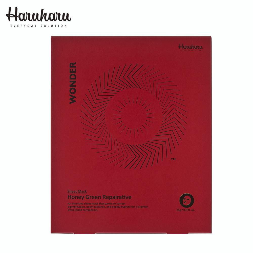 Haruharu 奇蹟活氧煥膚修護蜂蜜綠茶煥膚面膜 25g*5入/盒