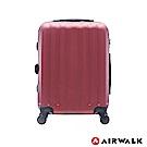 AIRWALK - 海岸線系列 BoBo經濟款ABS硬殼拉鍊20吋行李箱 - 熱點紅