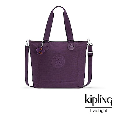 Kipling 手提包 深紫素面 -大