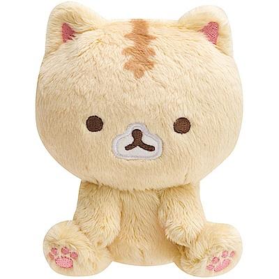 捲心奶油貓系列坐姿毛絨公仔。奶油貓San-X