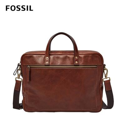 FOSSIL Haskell 真皮公事包 大款-干邑色 MBG9342222(可入15吋筆電)