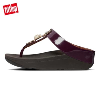 FitFlop FINO EMBELLISHED TOE-THONGS夾腳涼鞋-女(紫紅色)