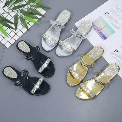 KEITH-WILL時尚鞋館年度精選金屬閃耀兩穿涼拖鞋