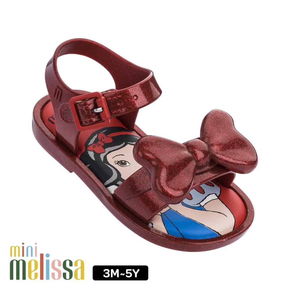 Melissa 白雪公主蝴蝶結造型涼鞋 酒紅