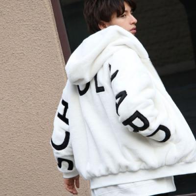 連帽布勞森外套絨毛長袖外套(4色) -ZIP日本男裝