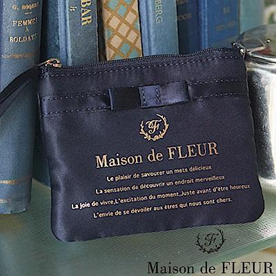 Maison de FLEUR 光澤感蝴蝶結零錢包