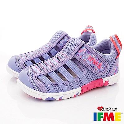 IFME健康機能鞋 輕量透氣排水款 NI02302紫(小童段)