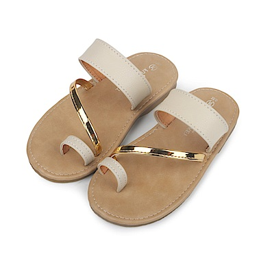 BuyGlasses 簡約夏日時尚感兒童拖鞋-杏