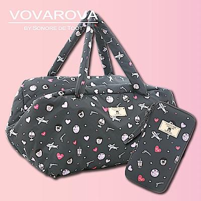 VOVAROVA x 莎莎-週末旅行袋+護照夾-環遊世界系列
