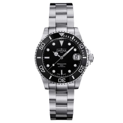 DAVOSA 165.195.50 TERNOS MEDIUM AUTOMATIC 黑色專業陶瓷外圈200M潛水女錶/36mm