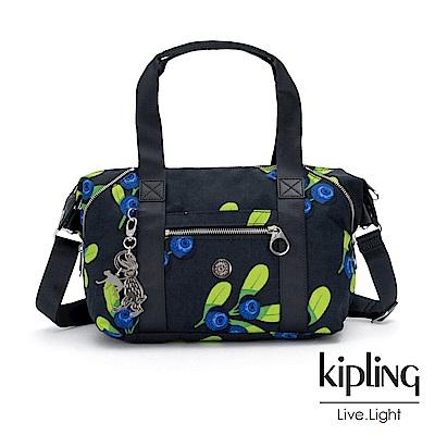 Kipling x HELEN LEE聯名款-酸甜藍莓圖騰手提側背包-ART MINI