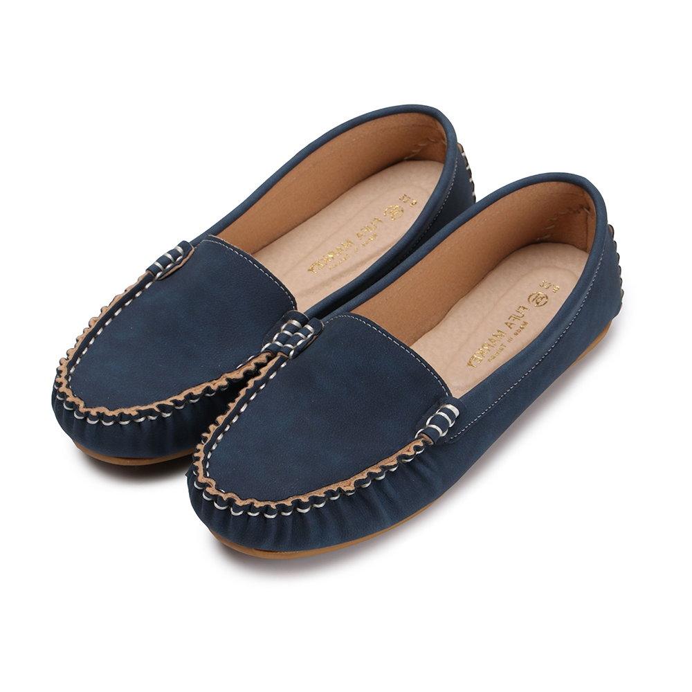 BuyGlasses 輕柔好感莫卡辛休閒鞋-藍 @ Y!購物