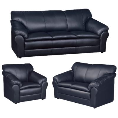 文創集 麥卡隆台製半牛皮革獨立筒沙發組合(1+2+3人座組合)-220x94x76cm免組