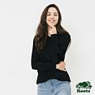 女裝ROOTS - 庫柏海狸長袖T恤-黑色