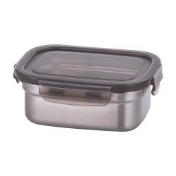 韓國Metal lock方形不鏽鋼保鮮盒520ml.露營野餐不銹鋼環保收納長方形大容量