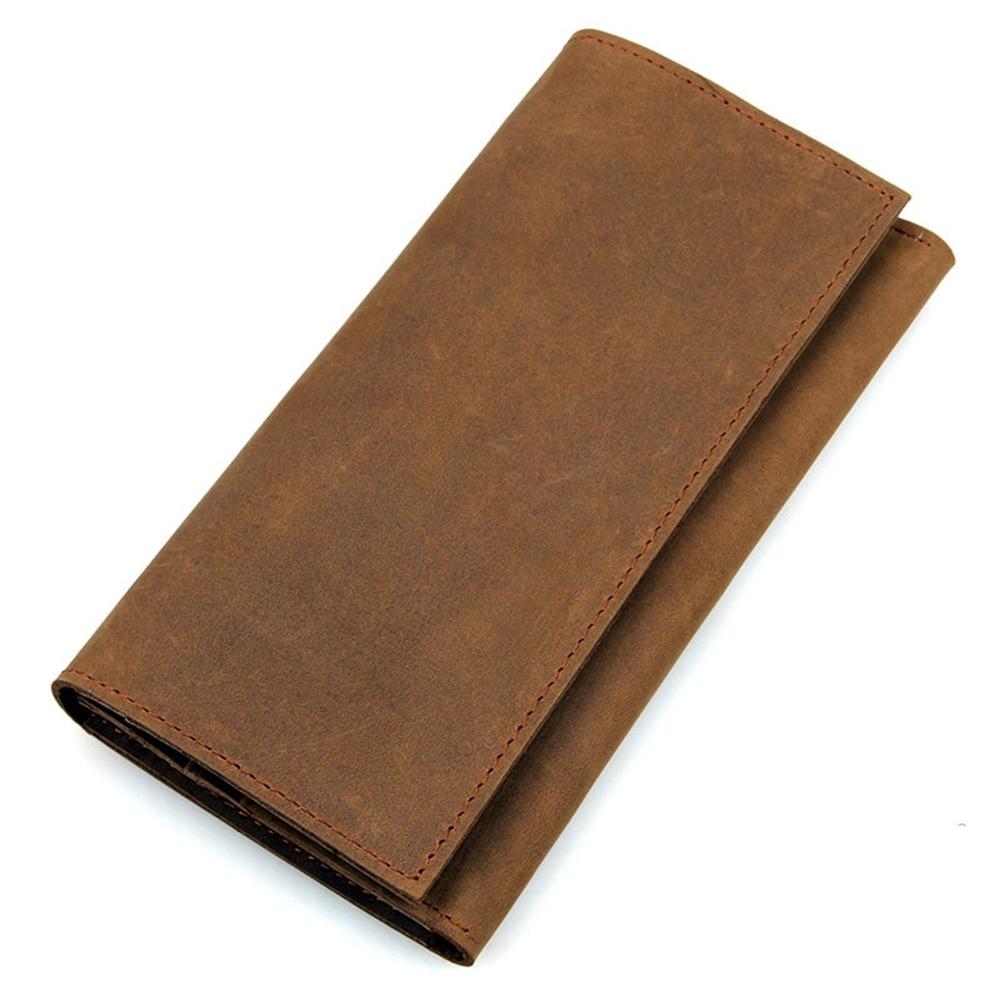 玩皮工坊-真皮頭層牛皮復古男士皮夾錢夾錢包長夾男夾LH378