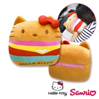 Hello Kitty凱蒂貓大漢堡抱枕/ 暖手枕 午安枕 腰靠枕 沙發枕 汽車枕