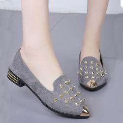 KEITH-WILL時尚鞋館 獨具品味時尚豆豆鞋-灰色