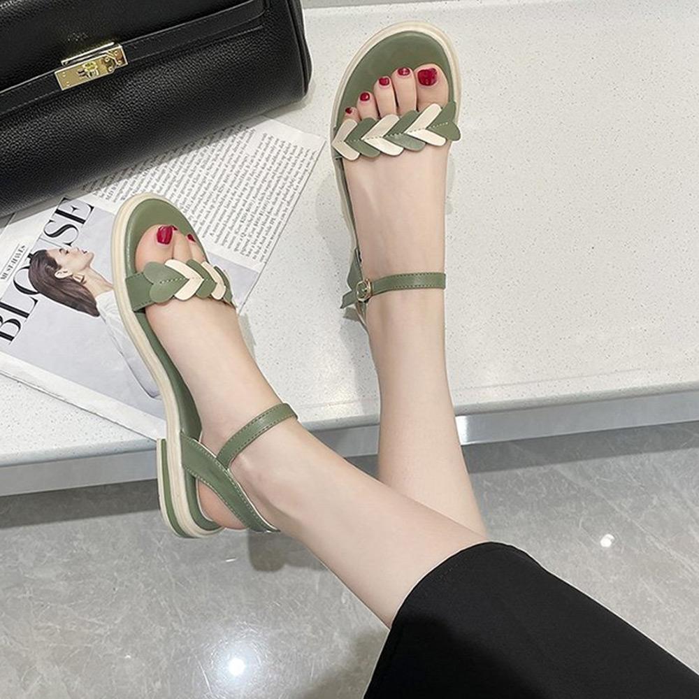 KEITH-WILL時尚鞋館-獨賣夏日時光涼鞋(涼鞋/涼跟鞋)(共2色) (綠色)