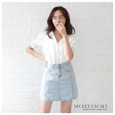 Secret Closet-韓版設計蕾絲花邊上衣