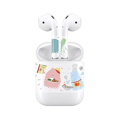 mogen AirPods 隨身耳機保護貼 小怪獸餐廳款