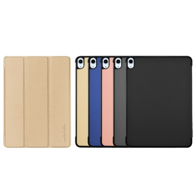 Metal-Slim Apple iPad Air 10.9 2020(第4代) 高仿小牛皮三折磁吸站立皮套