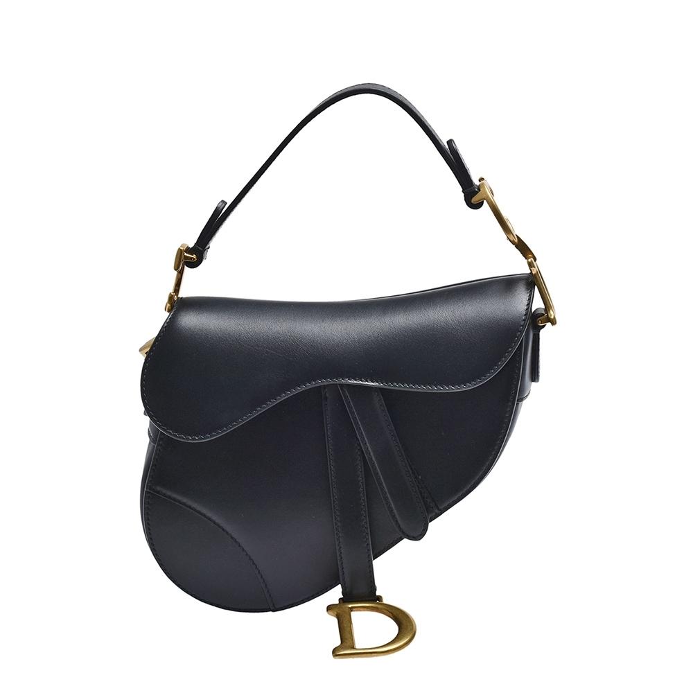 Dior 經典SADDLE系列小牛皮手提馬鞍包(迷你_黑)