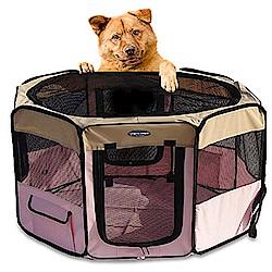 寵物貴族 歐美熱銷正品八角形超寬敞摺疊寵物圍籠/寵物窩/狗籠_大