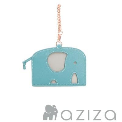 aziza 小象造型票卡夾 松石綠