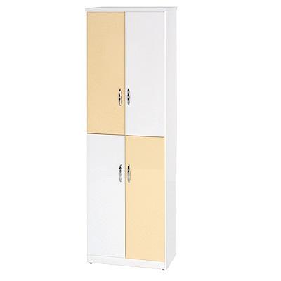 綠活居 阿爾斯環保2.2尺塑鋼四門高鞋櫃(13色)-65x37x180cm免組