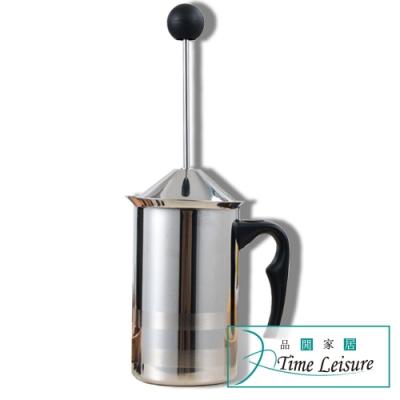 Time Leisure 不鏽鋼雙層手動彈簧加倍綿密打奶泡器