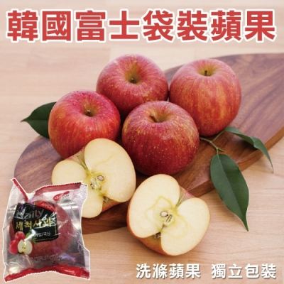 【天天果園】韓國套袋富士蘋果50顆(每顆約280g)