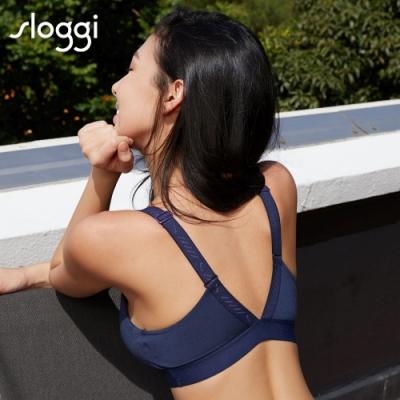 sloggi Basic Sporty系列日常律動運動U領款內衣 M-EEL 月光藍 88-335 RS