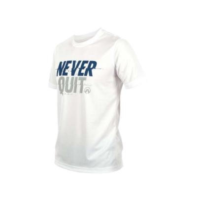 FIRESTAR 男吸排圓領短袖-短T T恤 慢跑 路跑 白灰藍