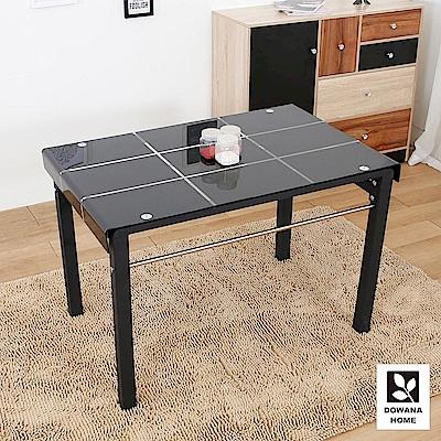 多瓦娜-亞當彎玻長方餐桌-二色-總寬111x總深79.5x總高74cm