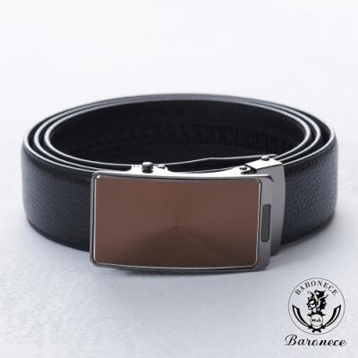BARONECE 百諾禮士 嚴選高品質皮革皮帶_黑(518006)