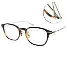 OLIVER PEOPLES光學眼鏡  質感雕花款/琥珀棕-金#WINNETT 1007