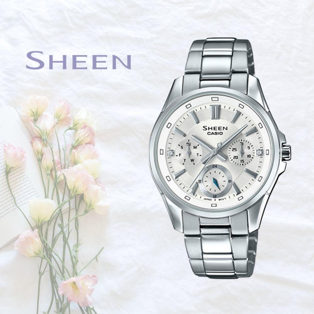 CASIO卡西歐 簡約配色腕錶(SHE-3060D-7A)