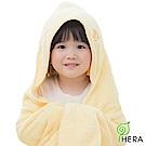 HERA 3M專利瞬吸快乾抗菌超柔纖 嬰幼童連帽巾-奶油黃