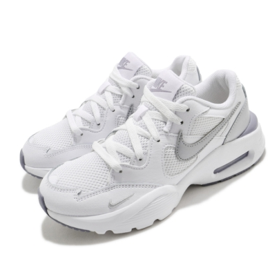 Nike 休閒鞋 Air Max Fusion 運動 女鞋 氣墊 舒適 避震 簡約 球鞋 穿搭 白 銀 CJ1671105
