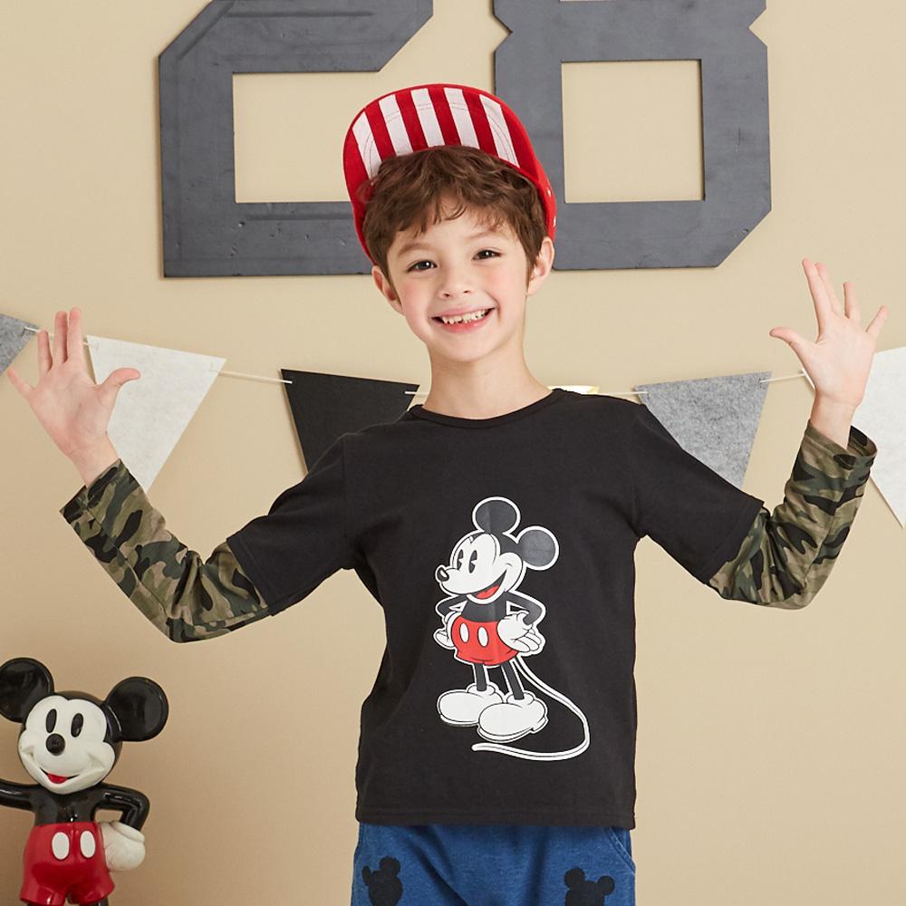 Disney 米奇系列帥氣迷彩假二件上衣(2色可選)