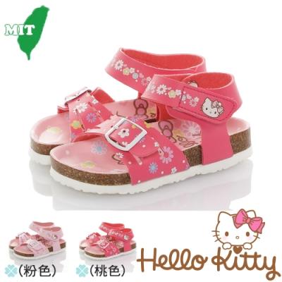 HelloKitty童鞋 輕量減壓吸震腳床型涼鞋-粉.桃